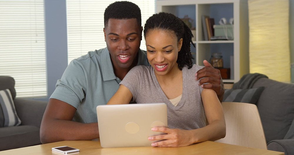 black couple Facebook